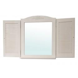 Зеркало в стиле Прованс со ставнями и полочкой