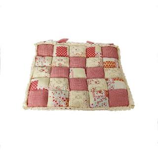 Подушка на стул Patchwork 40х40 коралловый цвет