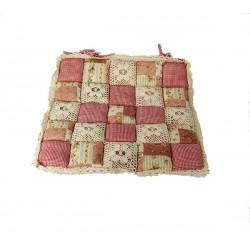 Подушка на стул Patchwork 40х40 розовый цвет