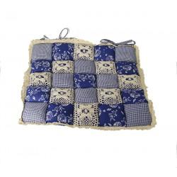 Подушка на стул Patchwork 40х40 синий цвет