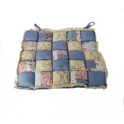 Подушка на стул Patchwork 40х40 голубой цвет