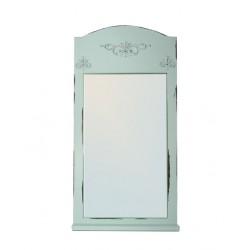 Зеркало настенное Прованс с полкой бирюзовое